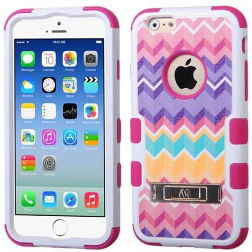 Apple iPhone 6/6S MyBat TUFF Hybrid Phone Protector Cover, Hibiscus Flower Romance/Orange