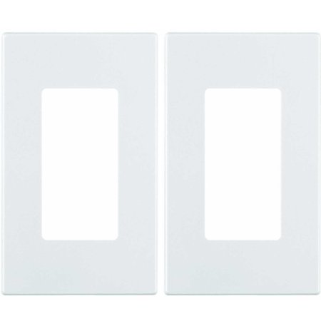 - Leviton 80301-SW 1-Gang Decora Plus Screwless Snap-On Mount Wall Plate (White, 2-Pack)