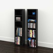 Sereni T 4 Shelf Modular Cd Dvd Storage Towers Set Of 2