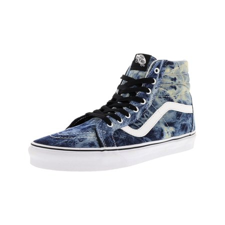 Vans Men's Sk8-Hi Reissue Acid Denim Black / True White High-Top Canvas Skateboarding Shoe - 11M