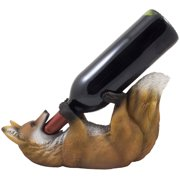 Fox Wine Bottle Holder and Decorative Bar or Countertop Wine Rack for Hunting Cabin Decorations & Rustic Lodge Decor by Home 'n Gifts