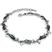 88 Imports AB0033 Genuine Shell Bracelet - Dolphin Inspired Design