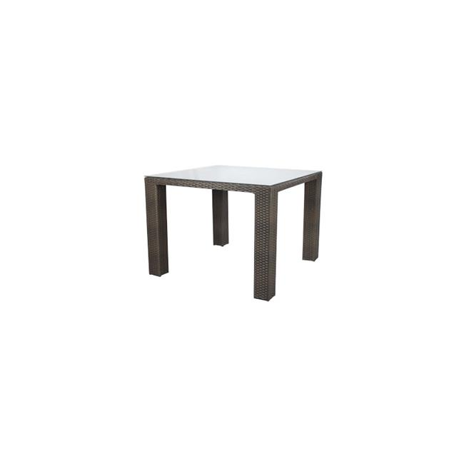 Source Outdoor SO-2003-308-ESP St Tropez Square Shaped Pub Table in Espresso, 6 Seats by Source Outdoor