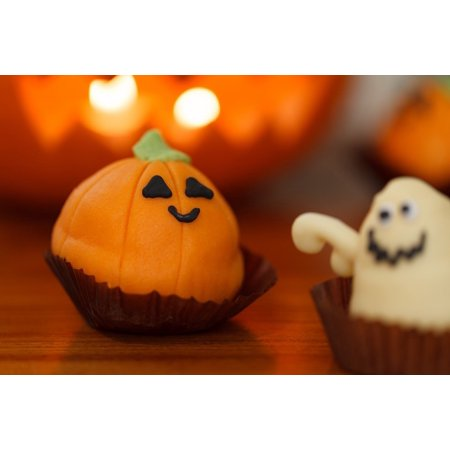 LAMINATED POSTER Treat Sweet Food Dessert Halloween Orange Holiday Poster Print 24 x 36 - Halloween Food Treats