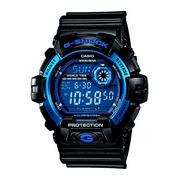 Casio Men's G-Shock Digital Quartz 200M WR Shock Resistant Watch Color: Black with Blue accents (G-8900A-1)