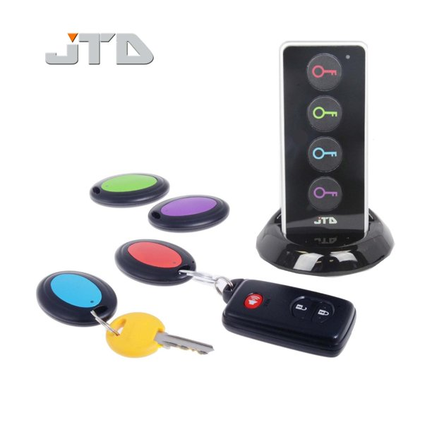 Jtd Wireless Rf Item Locator Key Finder With Led Flashlight And Base Support With 4 Receivers Key Finder Wireless Key Rf Locator Remote Control Pet Cell Wireless Rf Remote Item Wallet Locator Walmart Com