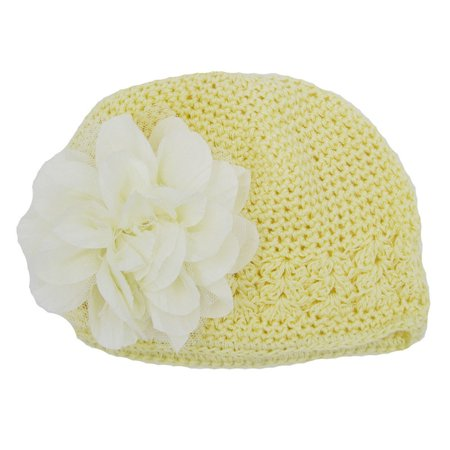 Toddlers Infant Baby Girl Fashion Flower Hollow Out Hat Headwear Knitted Hat