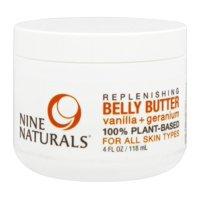 Nine Naturals - Replenishing Belly Butter Vanilla + Geranium - 4 oz.