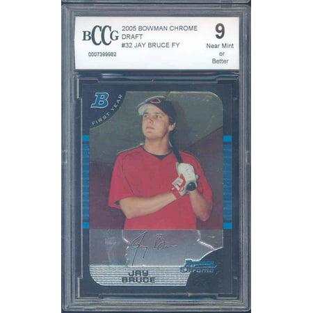 2005 Bowman Chrome Football Card - 2005 bowman chrome draft #32 JAY BRUCE rookie BGS BCCG 9