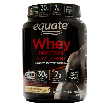 Equate Smooth Vanilla Whey Protein Supplement, 32.38