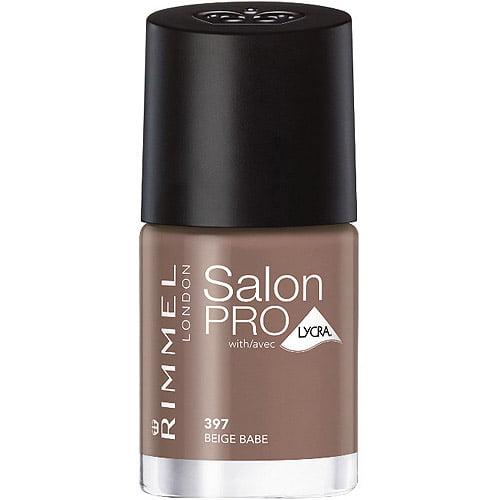 Rimmel London Salon Pro Nail Color with Lycra, 397 Beige Babe, 0.4 fl oz