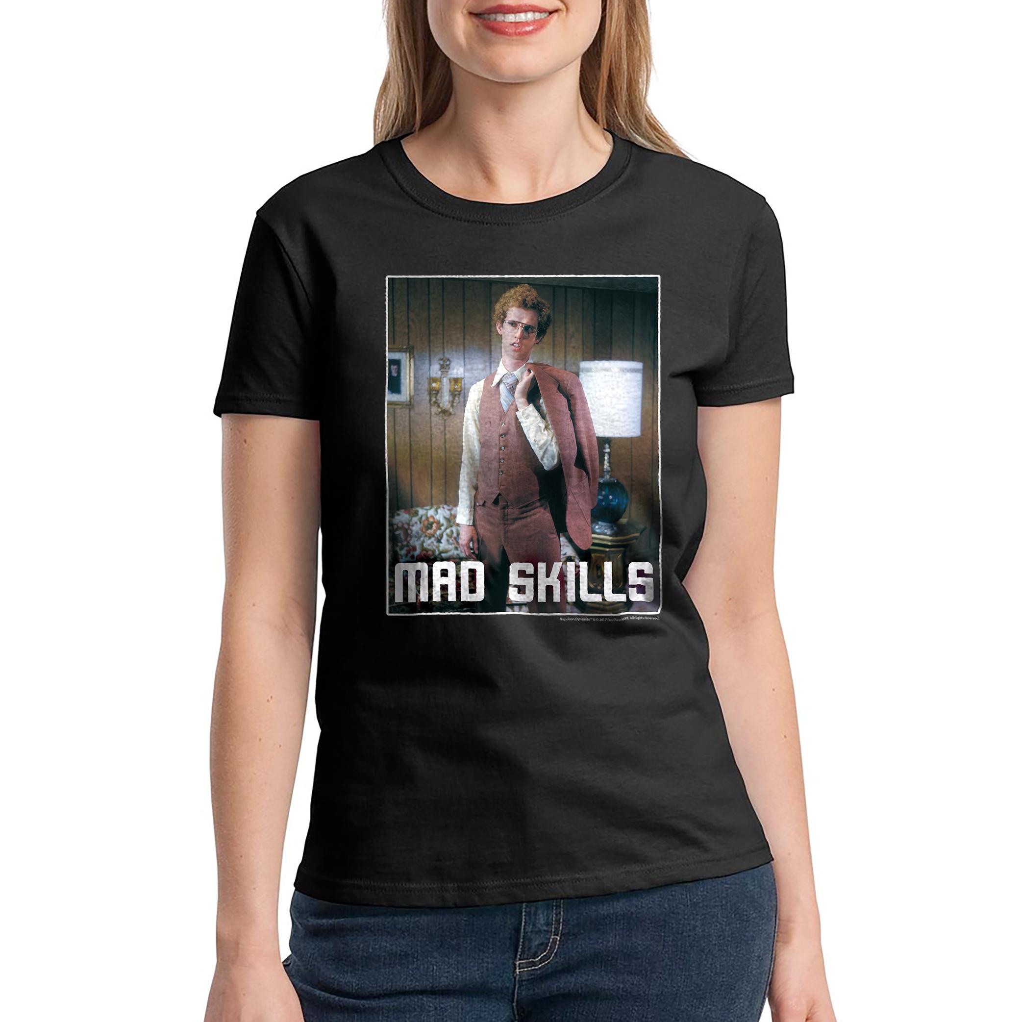 Napoleon Dynamite Mad Skills Suit Women's Black Funny T-shirt NEW Sizes S-2XL