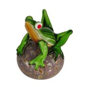 Dale Tiffany Frog on Ball Sculpture