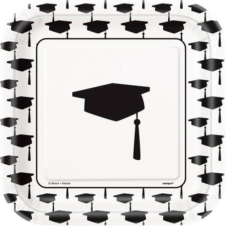 Square Classic Graduation Paper Plates, 7 in, 10ct