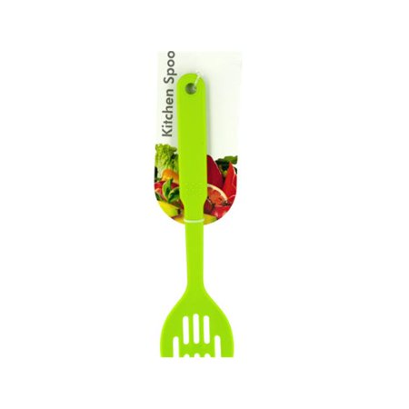 Bulk Buys HW860-36 Colorful Nylon Slotted Spoon - 36 Piece