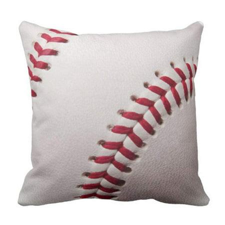 Monogram Baseball (BPBOP Balls Baseballs Customize Sports Customized Personalize Monogram Pillowcase Cushion Cover 16x16 inches )