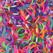 Rainbow Loom Specialty Tie-Dye Mixed Dual Color Latex-Free Refill Bands, 600 Count plus 24 C-clips