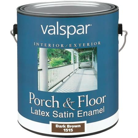 Valspar Brand 1 Gallon Dark Brown Porch  Floor Latex Satin Enamel 27-1515 GL - Pack of 2