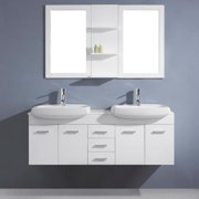 VIRTU USA  Ophelia 59-inch White Double Sink Stone Vanity Set
