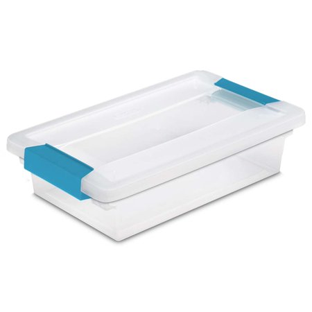 New Sterilite 19618606 Small File Clip Box Clear Storage Tote Container with Lid - Small Totes