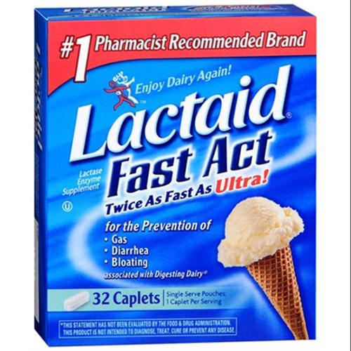 LACTAID Fast Act Caplets 32 Caplets (Pack of 6)