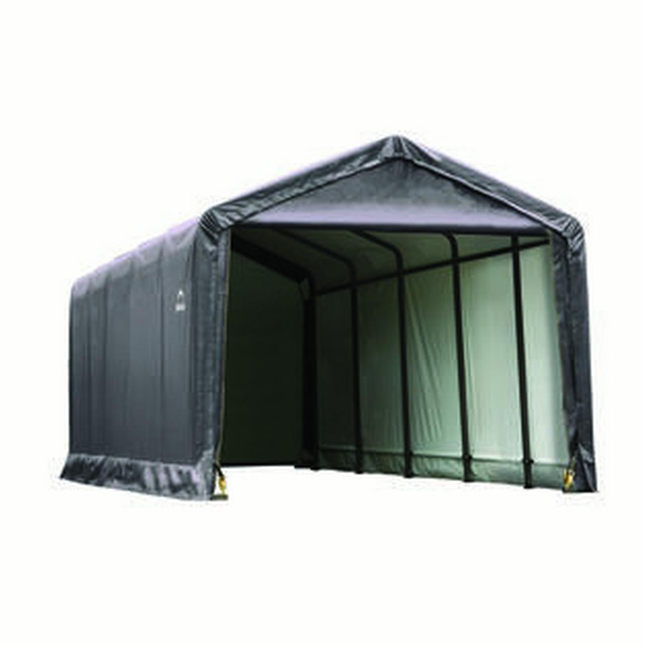 Shelter Tube Storage shelter 12x25x11 Ft. in Gray Cover by