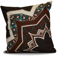 "Simply Daisy 16"" x 16"" Rising Star Geometric Print Outdoor Pillow"