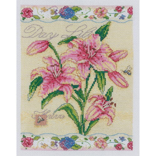 Bucilla Counted Cross Stitch Kit, Day Lilies