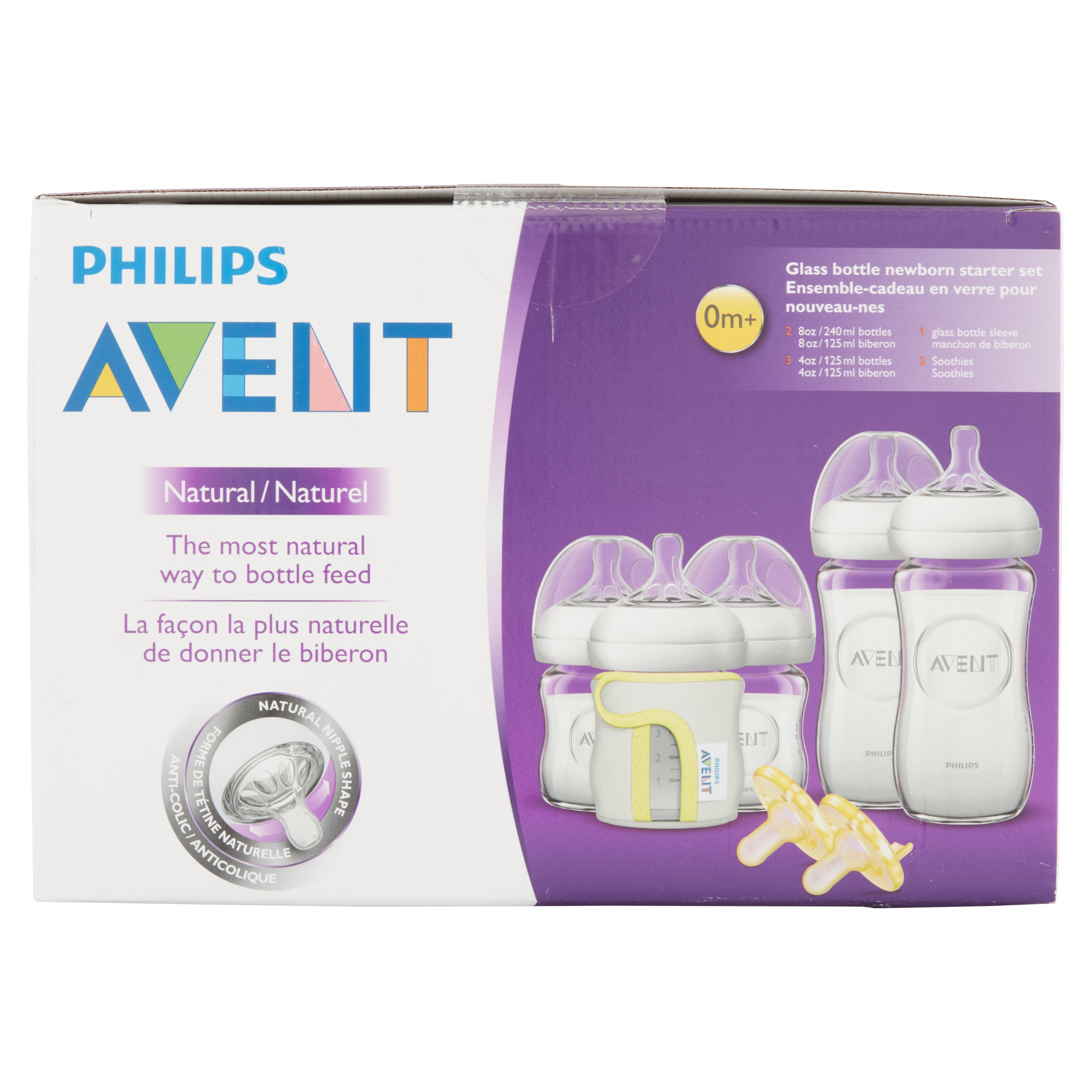 Philips Avent Natural Glass Baby Bottle Newborn Starter Set, BPA ...