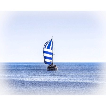 Canvas Print Catamaran Boat Lake Sailboat Superior Sailing Stretched Canvas 10 x