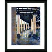 Studio Works Modern ''Rainy Pillared Walkway'' by Mia Singer Framed Graphic Art