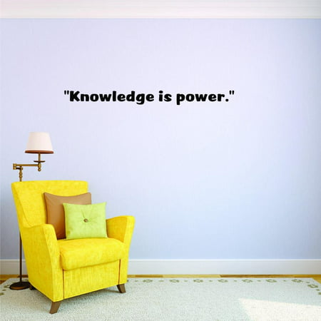 Custom Decals Knowledge Is Power. Wall Art Size: 6 X 20 Inches Color: Black