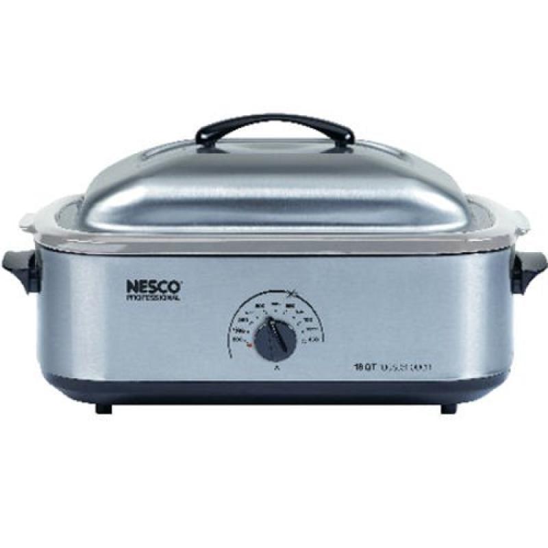 Metal Ware Nesco 4818-25-20, 18-Quart Stainless Steel Roa...
