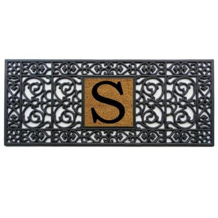 Rubber Monogram Doormat (Letter S) - S Monogram