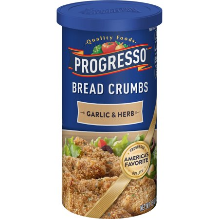Fish Bread Crumbs - (5 Pack) Progresso Garlic and Herb Bread Crumbs, 15 oz Container
