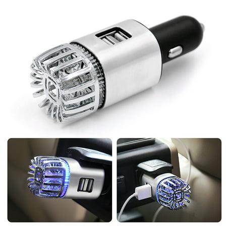 2 in 1 Car Dual USB Fresh Air Ionic Purifier Oxygen Bar Ozone Ionizer (Best Air Purifier For Pollution)