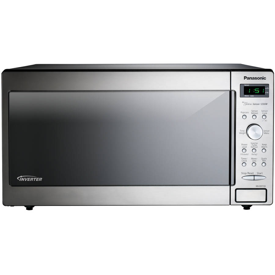 1.6 Cu. Ft. 1250W Genius Sensor Countertop/Built-In Microwave Oven with Inverter Technology