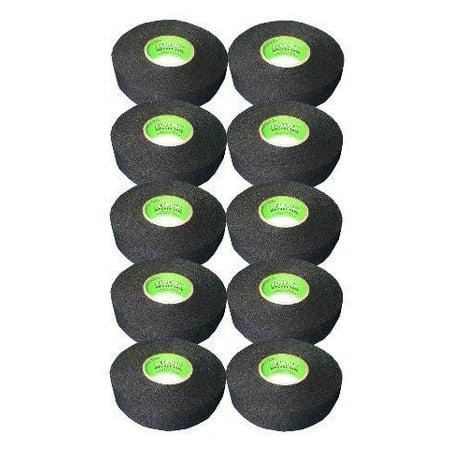 Cosom Hockey Blade (Renfrew 10 Roll Pack, Ice Hockey Stick Blade Handle Tape, BLACK, 24mm x 25yd )