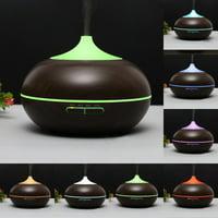 Topboutique 300ML Classic Ultrasonic Air Humidifier Aroma Essential Oil Diffuser Mist Diffuser Colorful Purifier - Dark Wood Grain