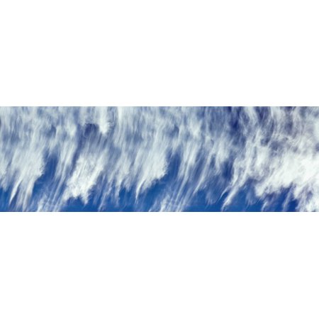 Low angle view of cirrus clouds in the sky La Jolla San Diego San Diego County California USA Poster Print ()