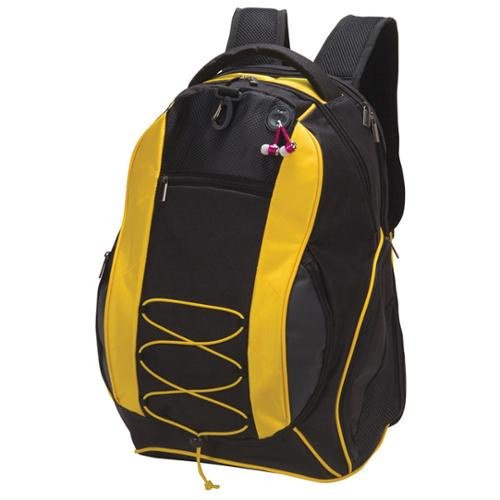Goodhope All-In-One 15-inch Laptop Sport Backpack Yellow/ black
