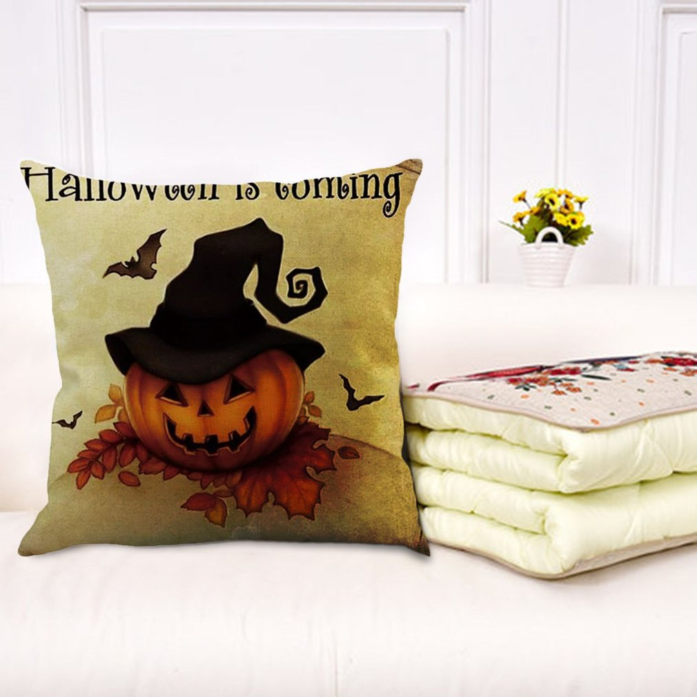 halloween pillow covers cotton linen burlap throw pillows decorative