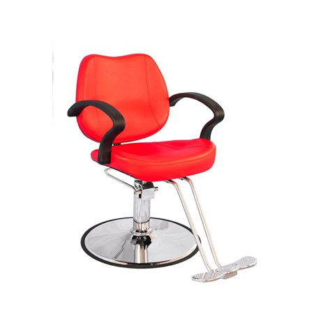 BarberPub  Classic Hydraulic Red Hair Salon Chair
