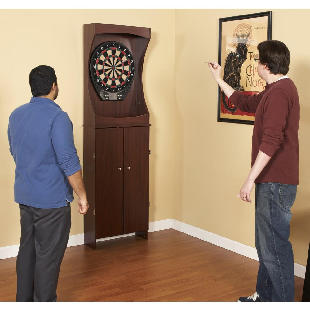 BlueWave NG1040 Outlaw Free Standing Dartboard & Cabinet Set-Cherry Finish