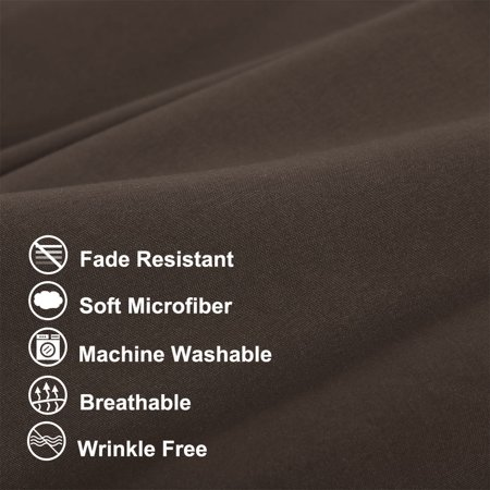 """Body Pillow Case Microfiber Long Bedding Covers Body Pillow Cover Brown 20""""x54"""" - image 7 of 7"""