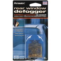 Permatex 21351 Rear Window Defogger Electrically Conductive Tab (Best Electrically Conductive Glue)