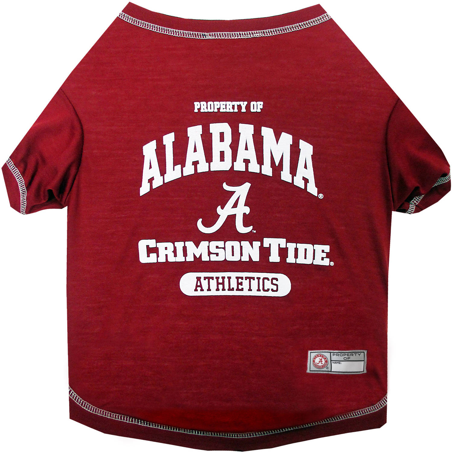 Pets First Collegiate Alabama Crimson Tide Pet T-shirt, Assorted Sizes