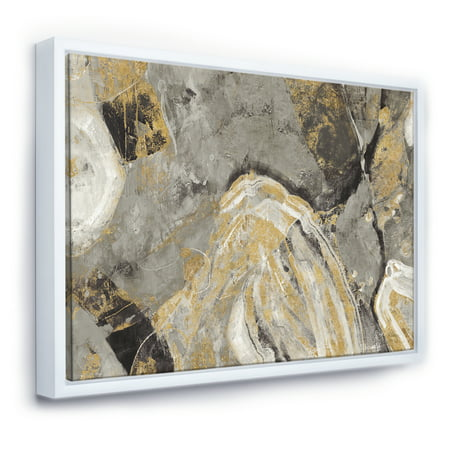 Painted Gold Stone - Cabin & Lodge Framed Canvas - image 1 of 3