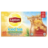 Lipton Decaffeinated Family Size Black Iced Tea, Tea Bags, 48 Ct