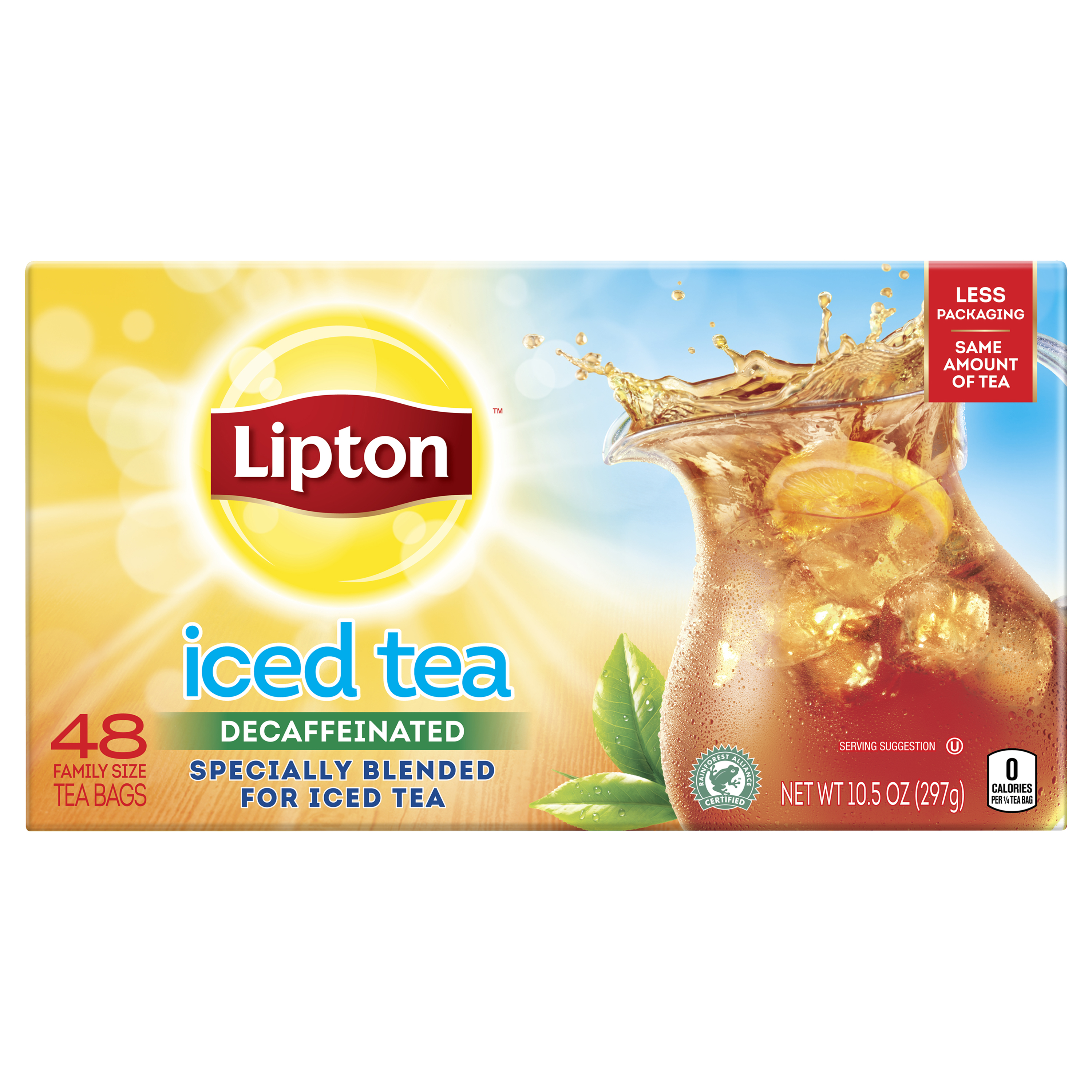 Lipton Family Iced Tea Bags Black tea 48 ct